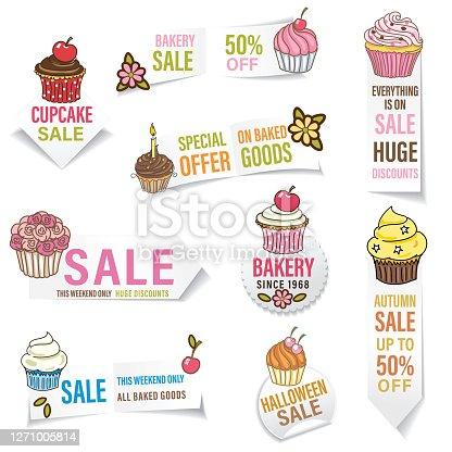 istock Bakery Sale Banner Sticker 1271005814