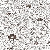 istock Bakery Seamless Pattern 1137589380