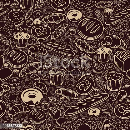 istock Bakery Seamless Pattern 1138627333
