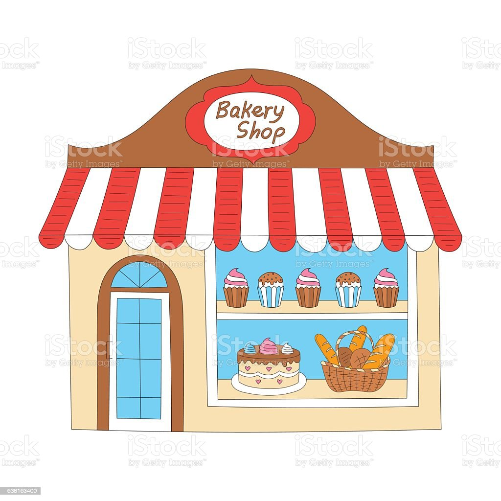 bakery shop building vector illustration stock vector art more rh istockphoto com