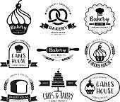 Bakery shop emblem.Vector illustration.