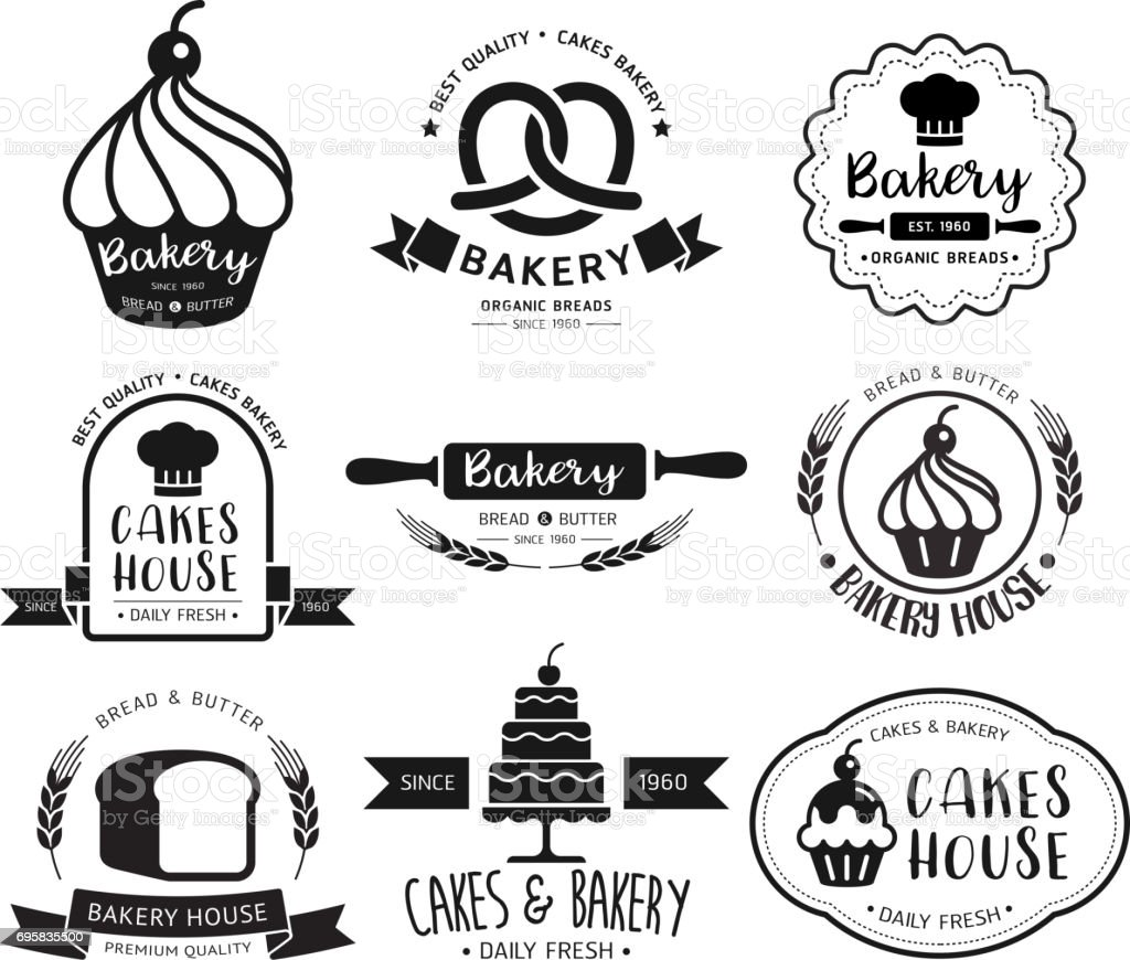 Bakery shop emblem.Vector illustration. - illustrazione arte vettoriale