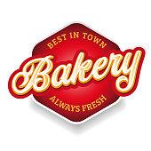 istock Bakery sign label lettering vintage 1270791910