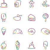 The vector files of bakery icon set.