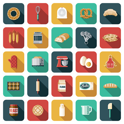 Baking and Bread Making Icon Set