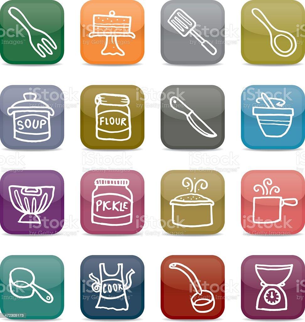 Kochen Und Backen App backen und kochen appiconsetstyle stock vektor und mehr bilder