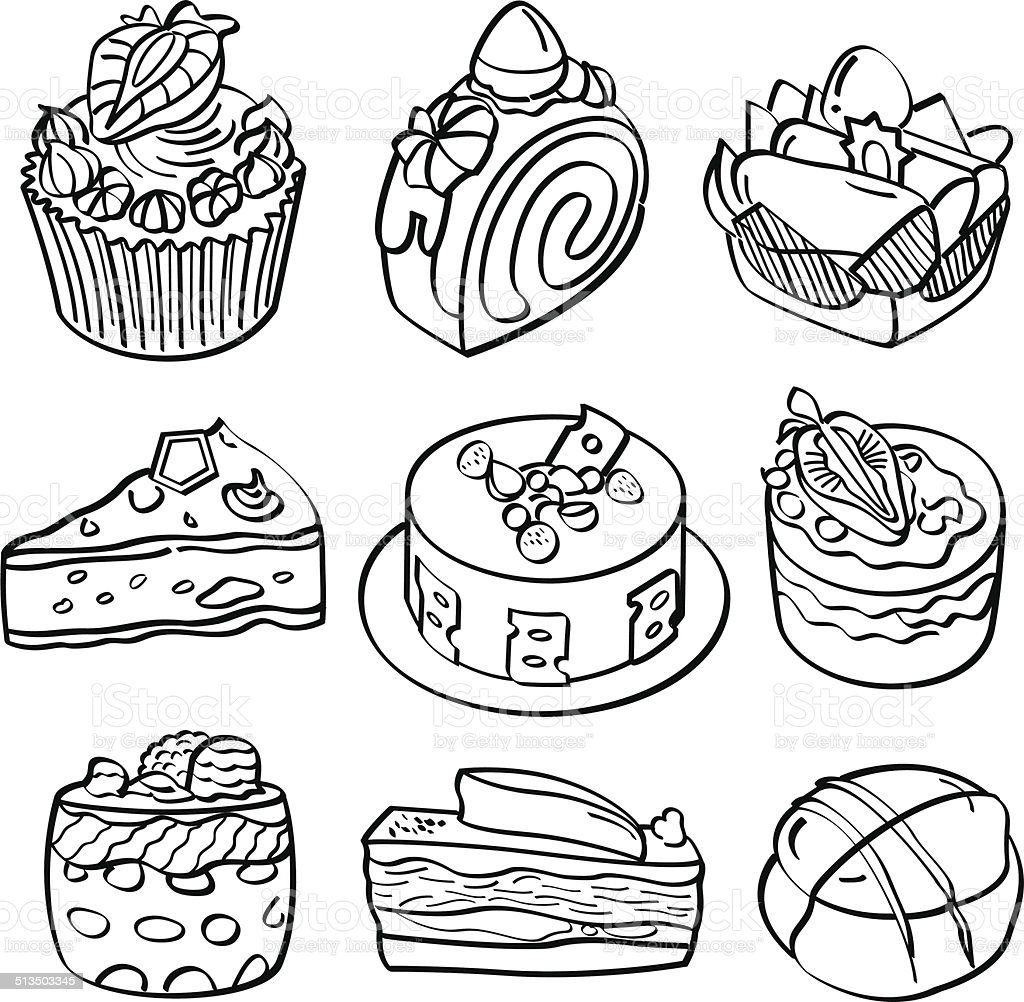 Baking and Dessert Collection vector art illustration