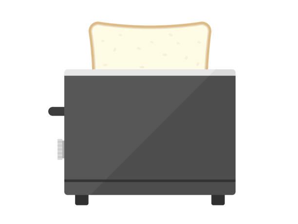 ilustrações de stock, clip art, desenhos animados e ícones de baking bread with a toaster. - baking bread at home