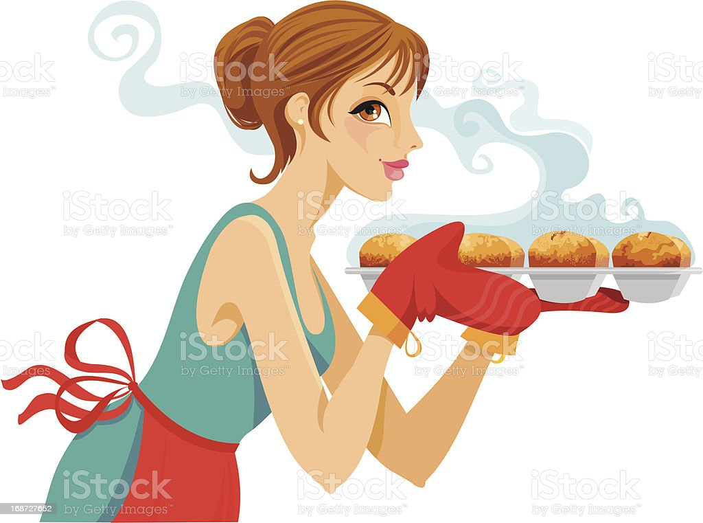 Baking Cupcakes royalty-free baking cupcakes stock vector art & more images of adult