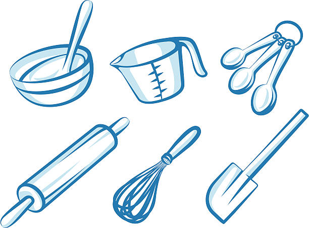 baking elements - mixing bowl stock illustrations, clip art, cartoons, & icons