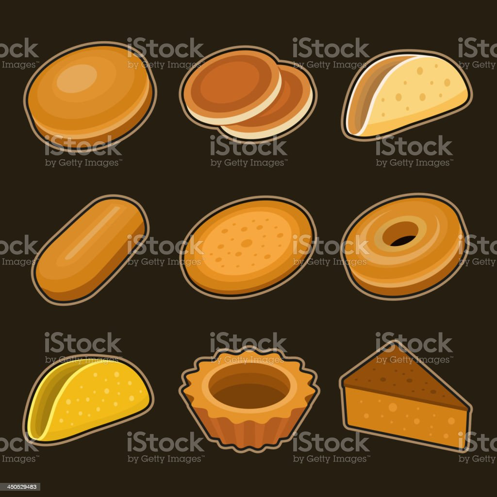 Baking icon set royalty-free baking icon set stock vector art & more images of bagel