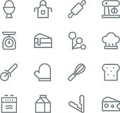 Baking icons - line Vector EPS File.