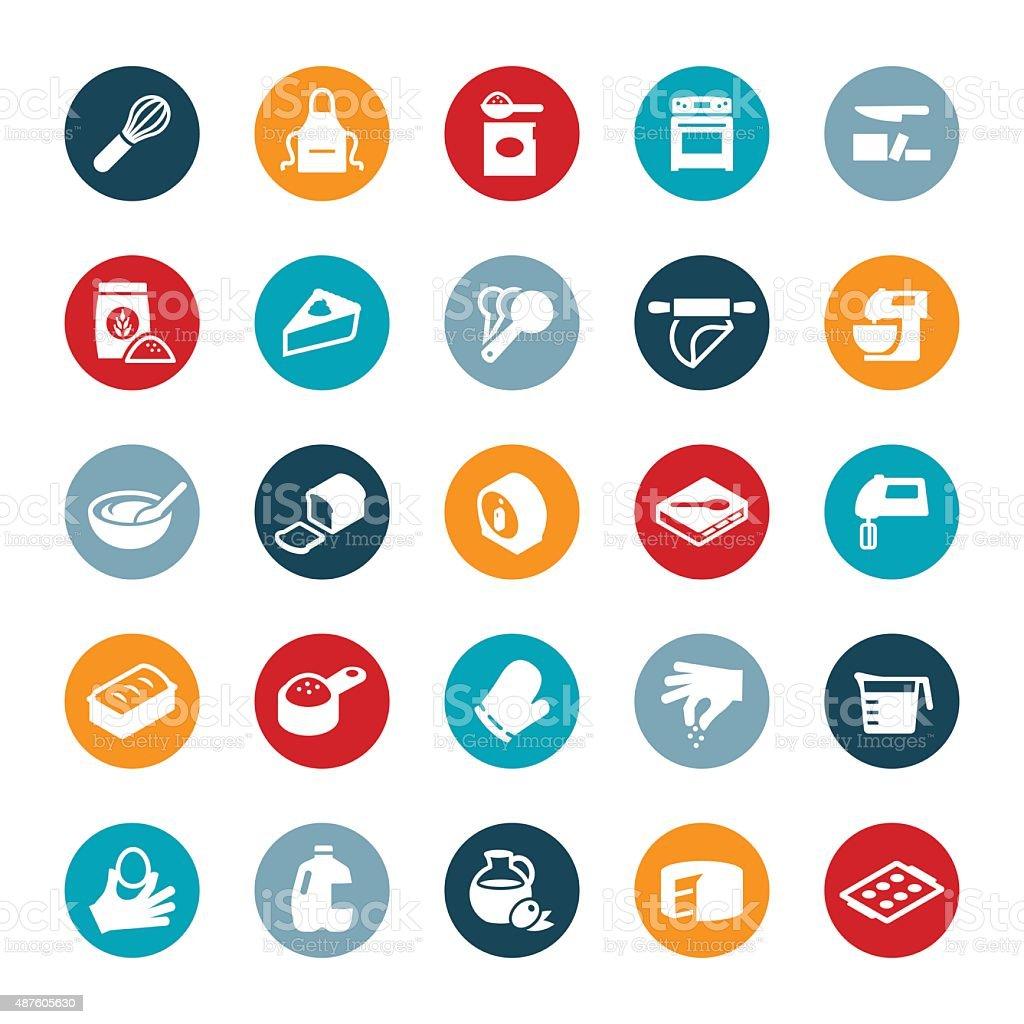 Baking Icons vector art illustration