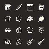 Baking Icons - White Series   EPS10
