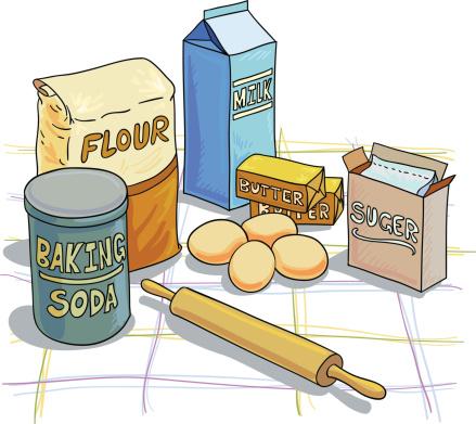 Baking ingredients illustration