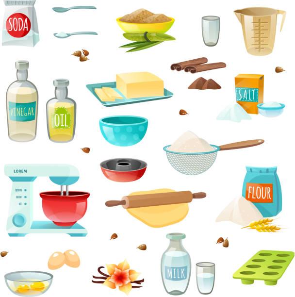 ilustrações de stock, clip art, desenhos animados e ícones de baking ingredients - manteiga