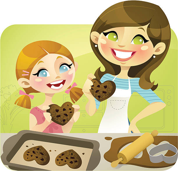 baking mama - chihhang stock illustrations