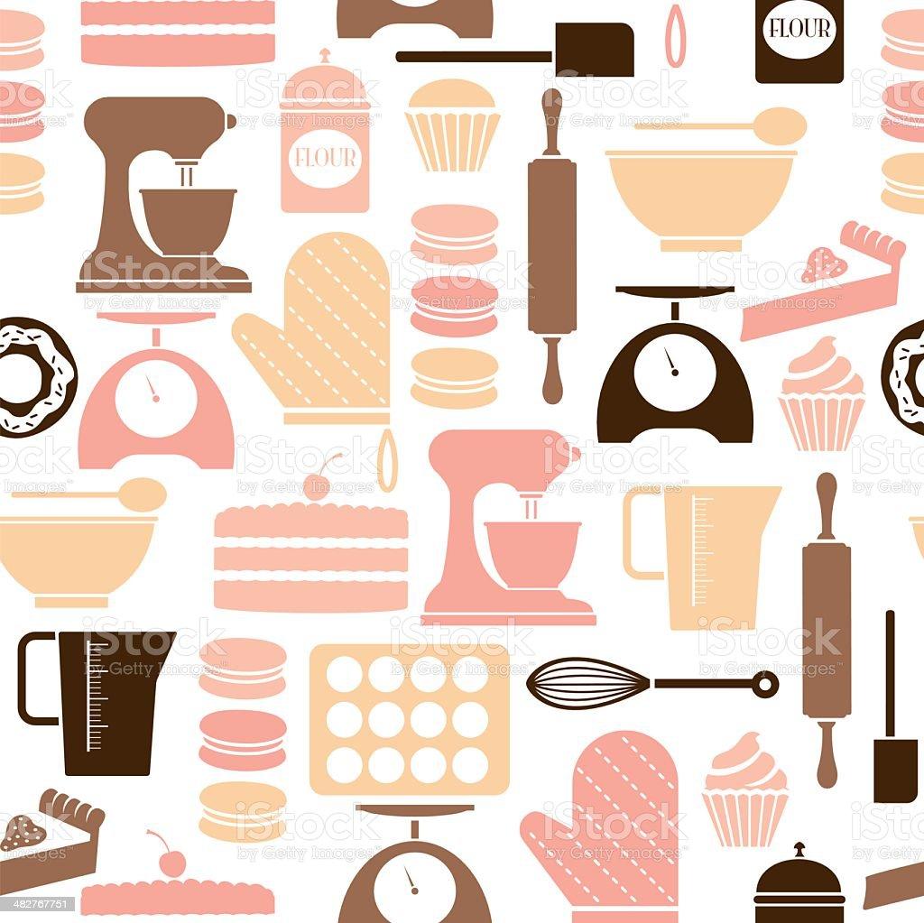 Baking wiederholen Muster - Lizenzfrei Backblech Vektorgrafik