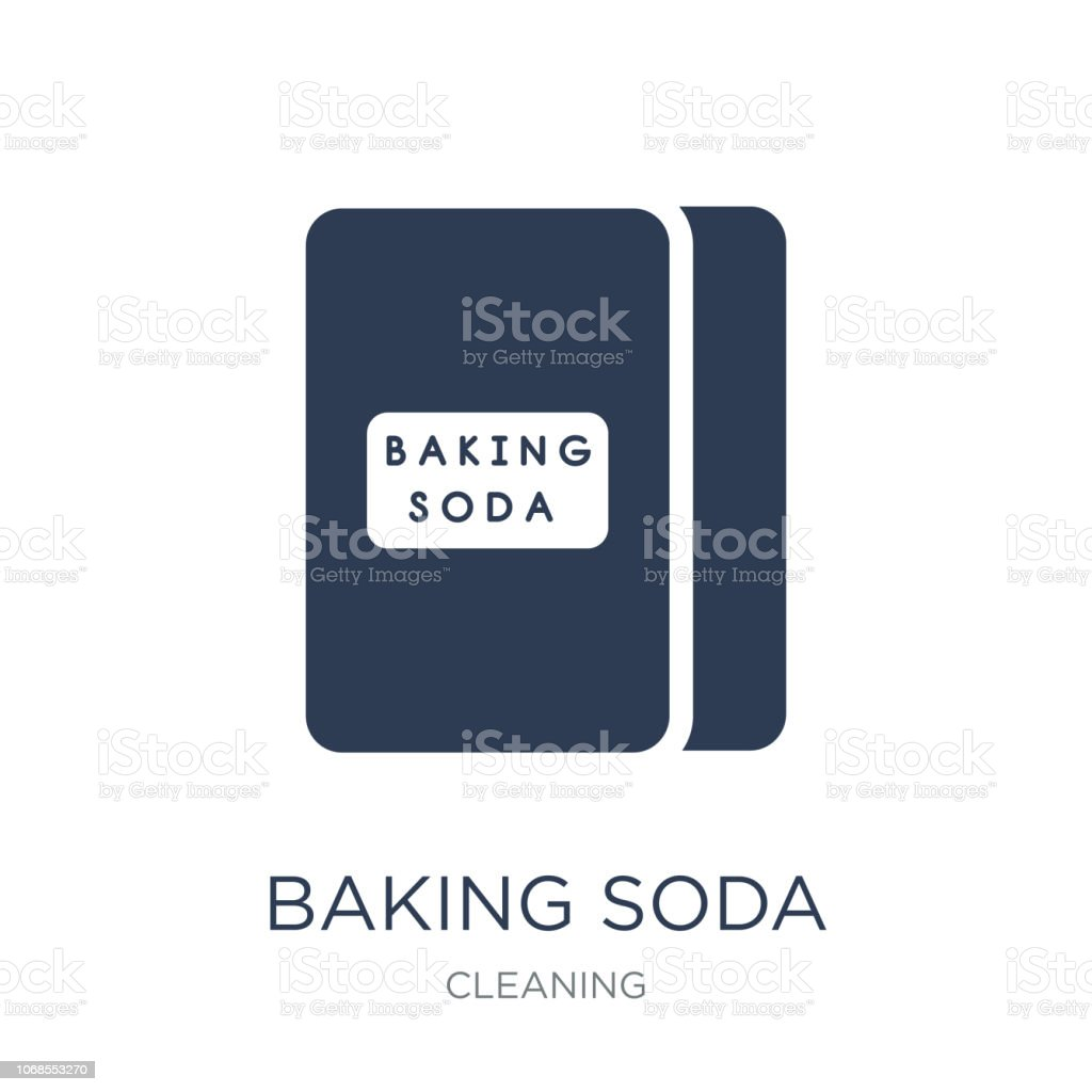 baking soda icon. Trendy flat vector baking soda icon on white background from Cleaning collection vector art illustration
