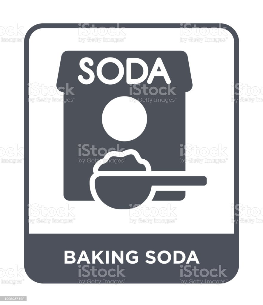 baking soda icon vector on white background, baking soda trendy filled icons from Cleaning collection vector art illustration