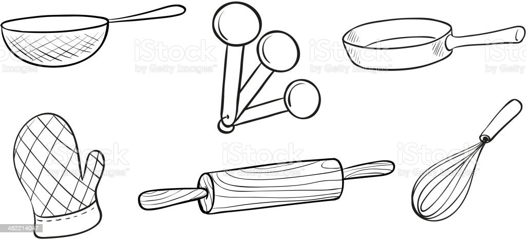 Baking tools royalty-free stock vector art