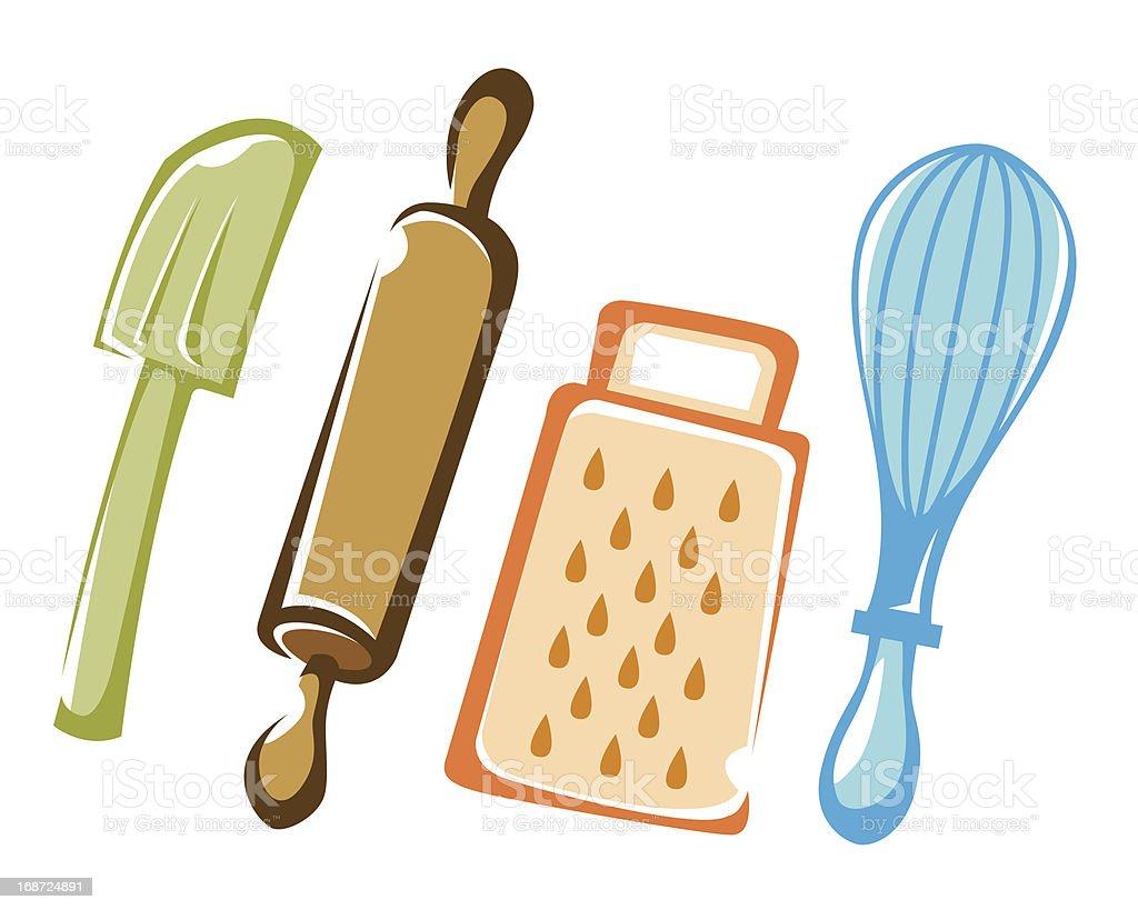 Backen Küchenutensilien Farbe Stock Vektor Art und mehr Bilder von ...