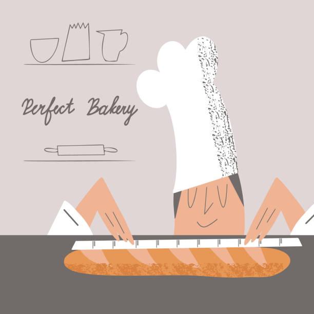 bildbanksillustrationer, clip art samt tecknat material och ikoner med bakning - arbeta köksbord man