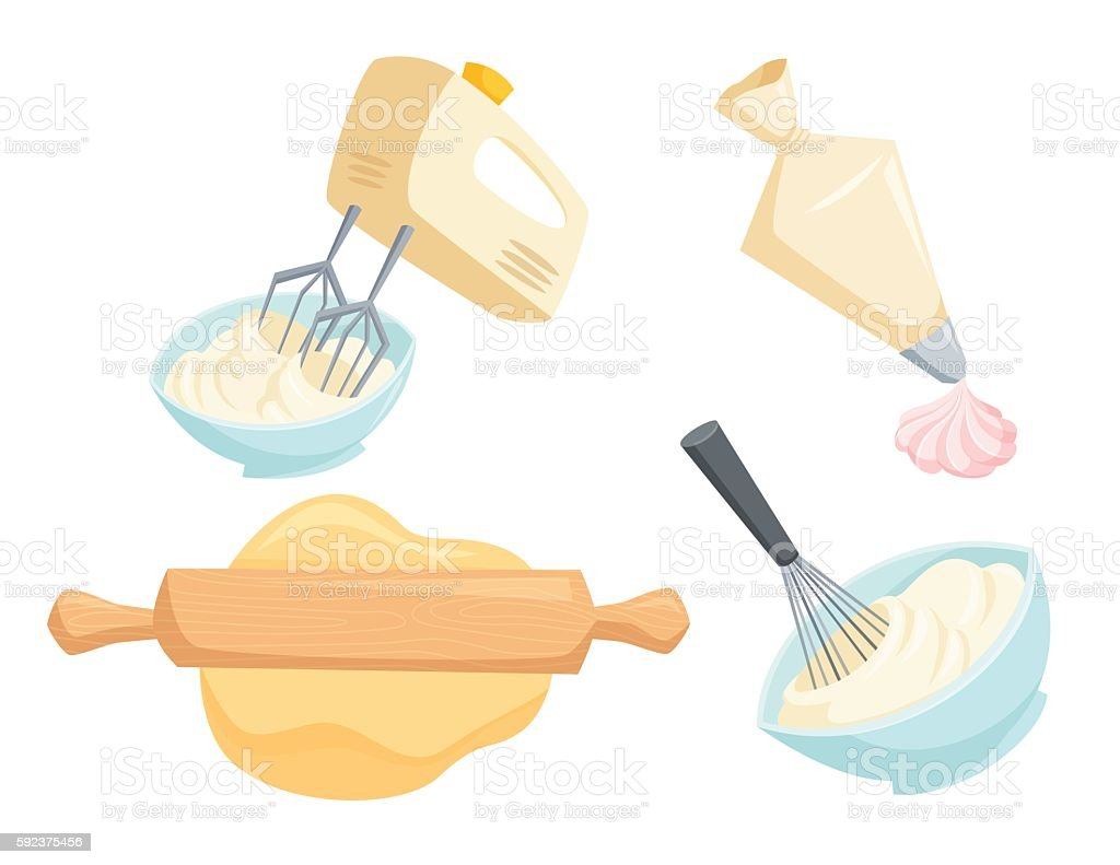 Baking vector set vector art illustration