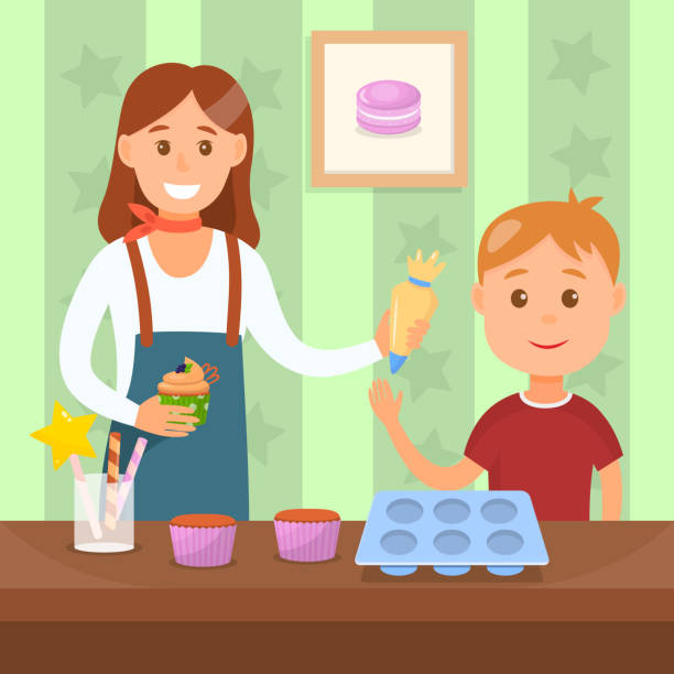 A Cartoon Vector Illustration Of A Cute Retro Pin Up Girl Baking.. Royalty  Free Cliparts, Vectors, And Stock Illustration. Image 39709895.