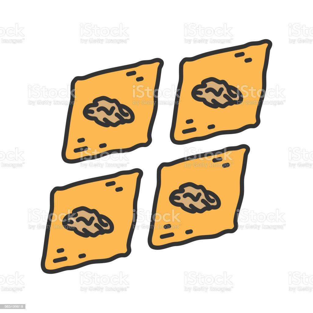 Baklava icon vector art illustration