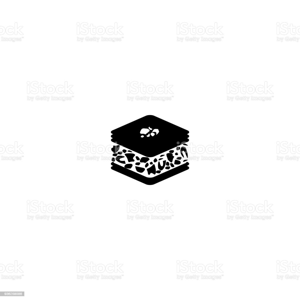 baklava icon - vector illustration. vector art illustration