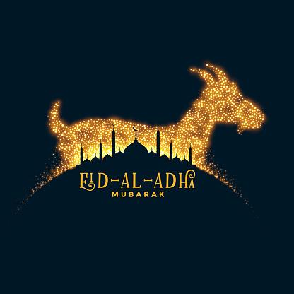 bakrid eid al adha festival sparkle background design