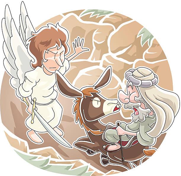 Balaam's Donkey vector art illustration