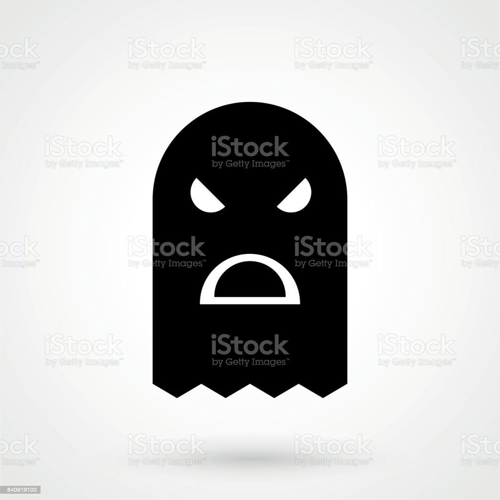 Balaclava terrorist military mask simple icon on square background vector art illustration