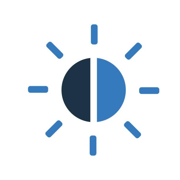 balance, helligkeitssteuerung symbol design - farbsättigung stock-grafiken, -clipart, -cartoons und -symbole
