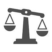 istock Balance gray icon, justice, law, measurement 1249867153