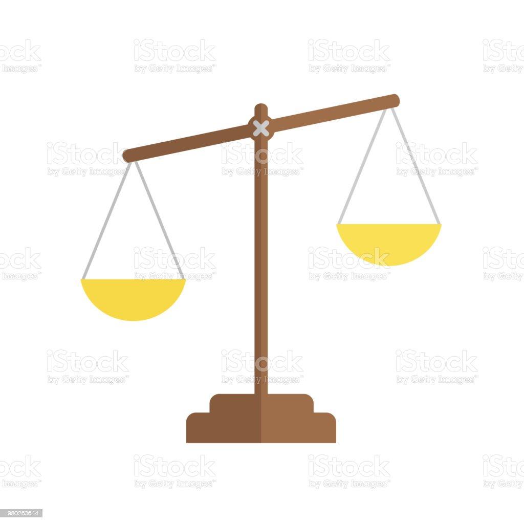 Balance Icon Law Balance Symbol Justice Scales Icon Flat Design