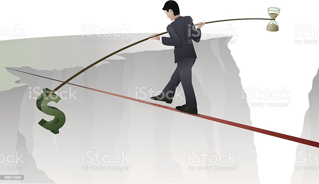 Balance in Business - Royaltyfri Affärsman vektorgrafik