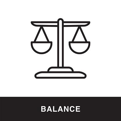Balance Line Icon Concept