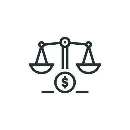 Balance Line Icon