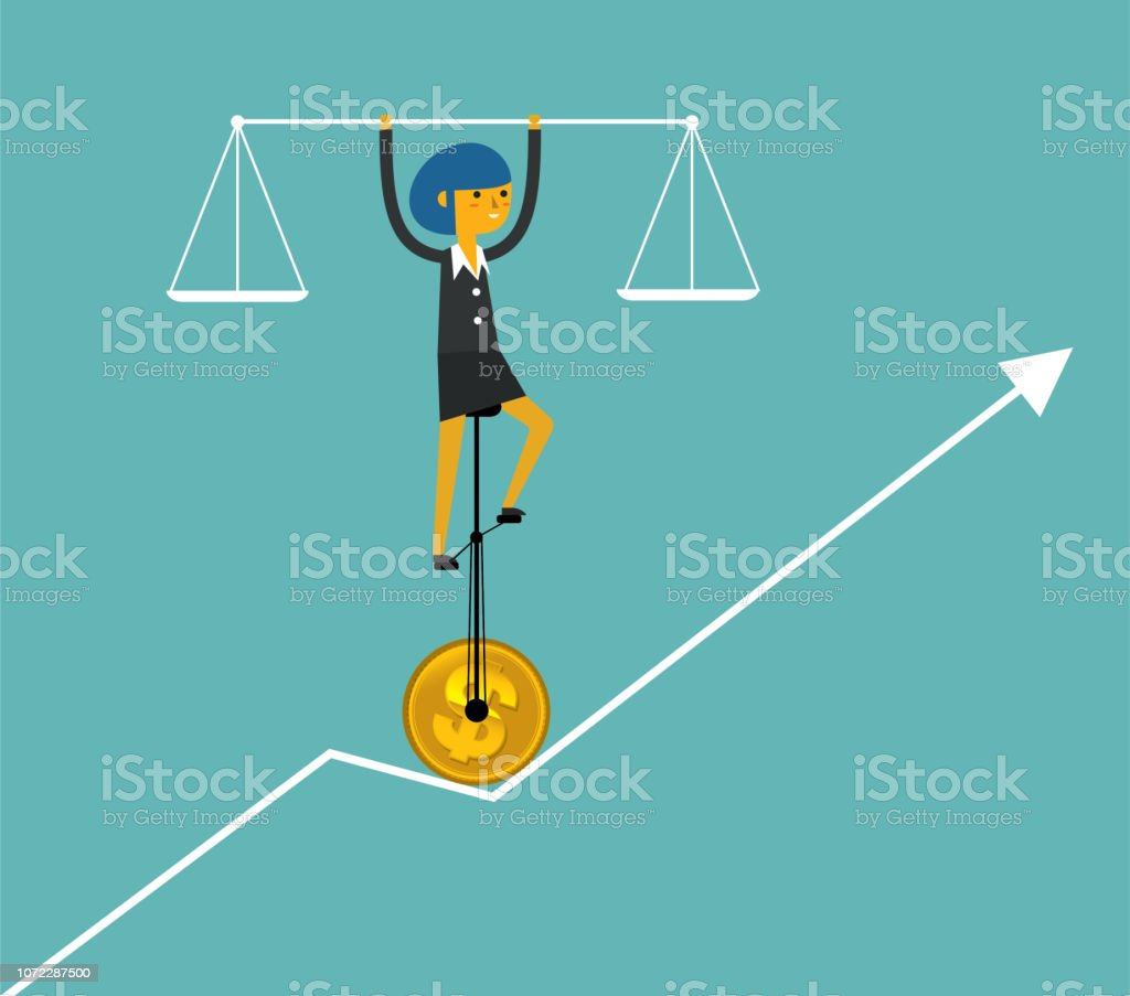 Balance of business - Businesswoman royalty-free balance of business businesswoman stock vector art & more images of accuracy