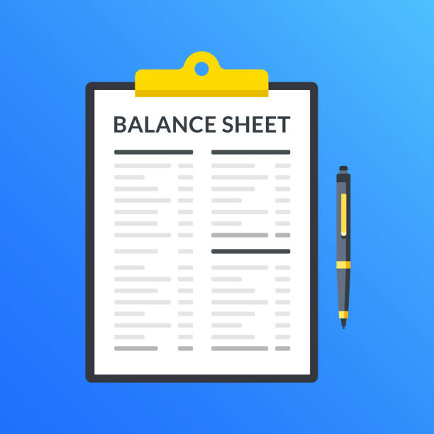 Balance sheet. Clipboard with financial statement, financial report and pen. Modern flat design graphic elements. Vector illustration vector art illustration