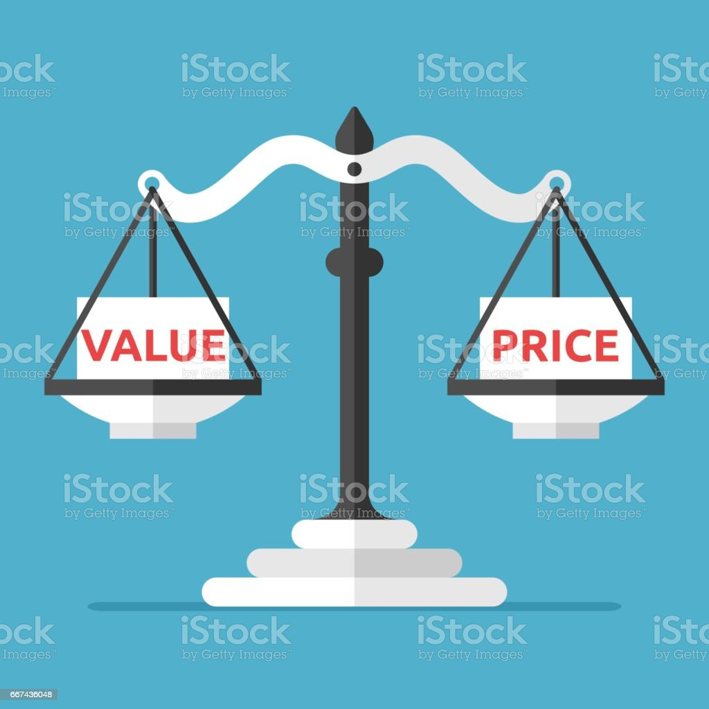 Value And Balance In Art : Balance value and price stock vector art more images of