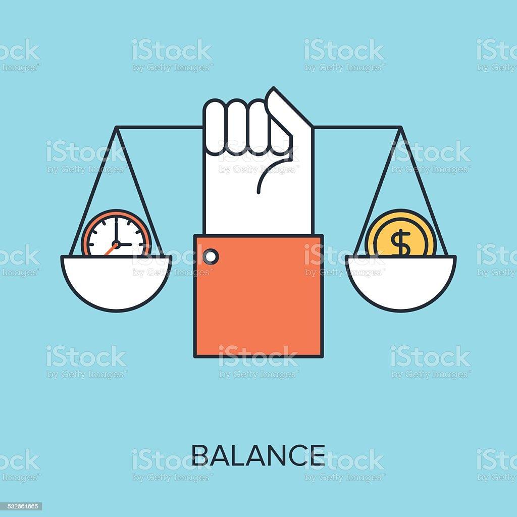 Balance vector art illustration