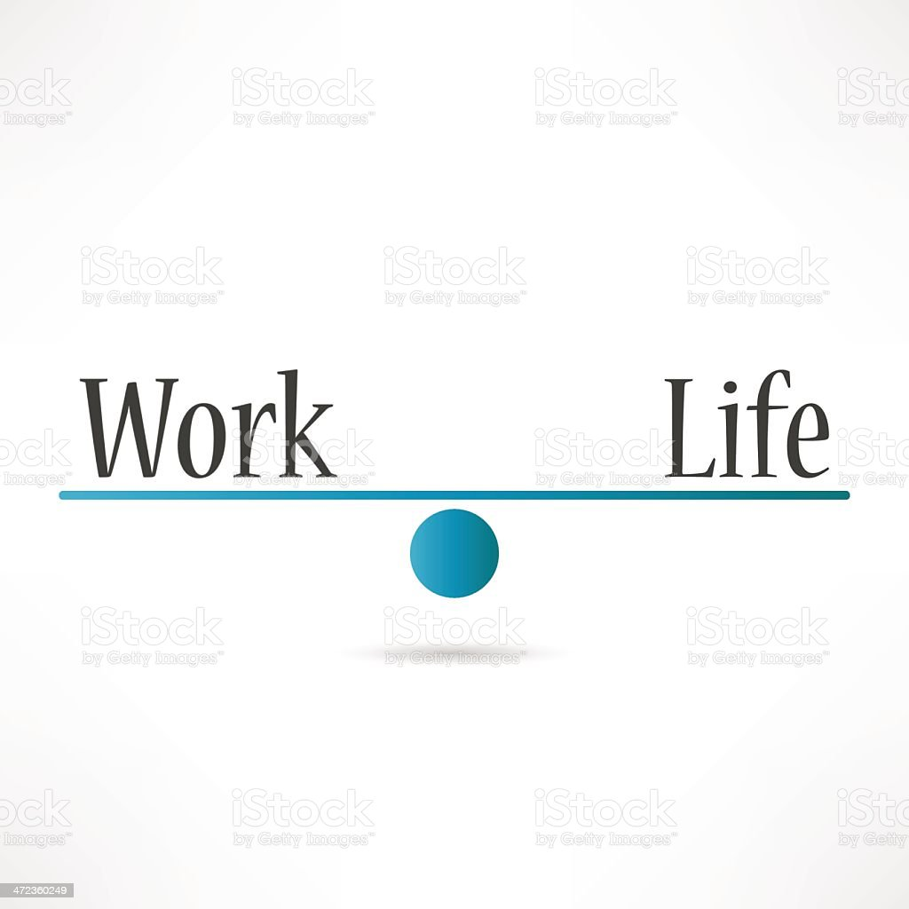 Balance Work And Life vector art illustration