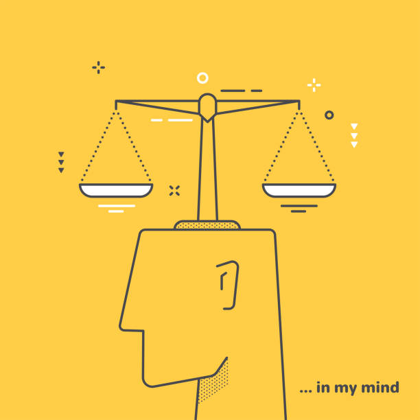 balanced vector art illustration