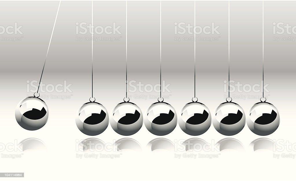 Balancing Balls of Newton's Cradle royalty-free stock vector art