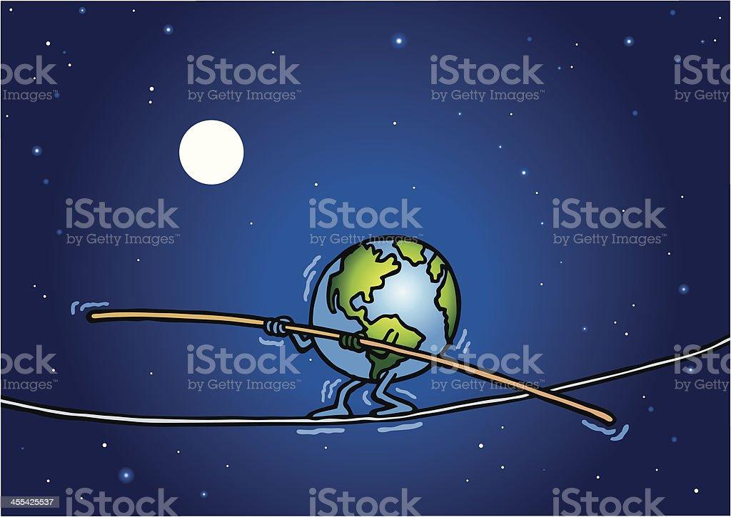 Balancing Earth royalty-free stock vector art