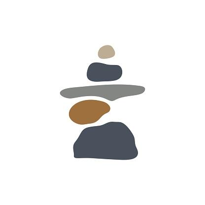 balancing zen stone vector icon illustration