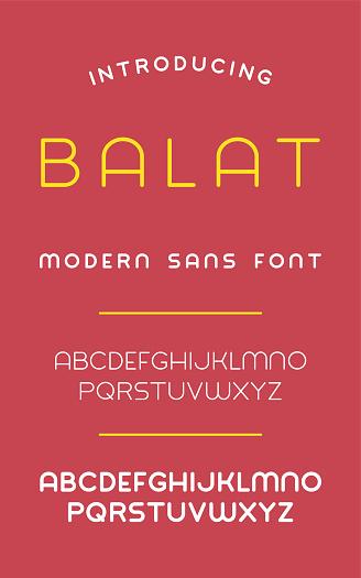 Balat Sans Font Stock Illustration - Download Image Now